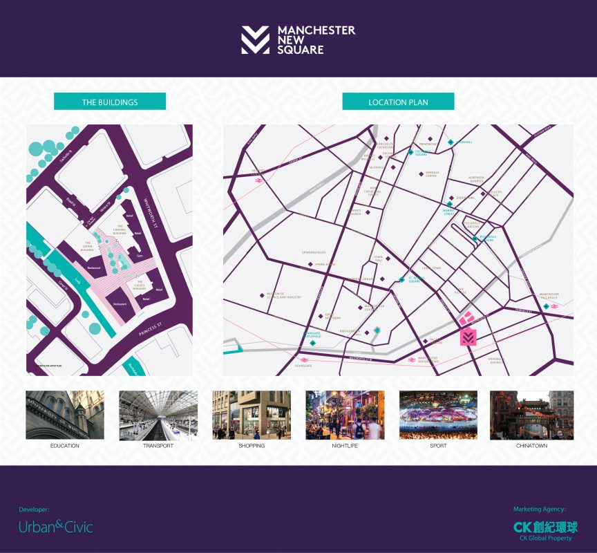 Manchester New Square Map Location