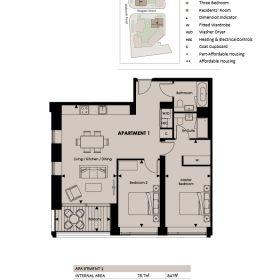 兩房兩衛1聽,62呎陽台