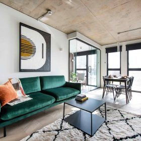 Inside, the apartments are meticulously designed for today's city living.